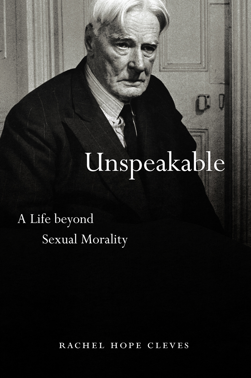 """Six Questions with Rachel Hope Cleves, author of """"Unspeakable"""""""
