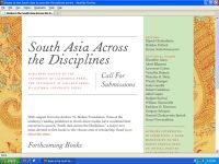 """South Asia Across the Disciplines"" on the web"